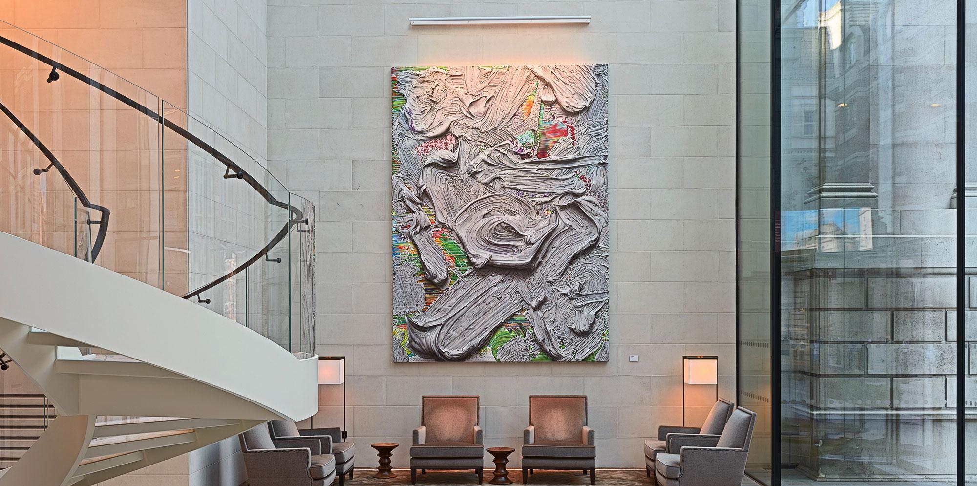 Artist Jason Brooks Painting Syliva JP Morgan